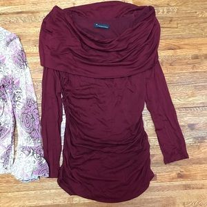 Forever 21 maroon cowl neck top